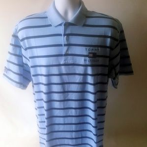 Tommy Hilfiger blue polo striped shirt size XL